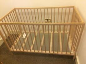 Ikea singlar wooden cot excellent condition