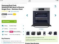 Brand new integrated Samsung dual cook single oven