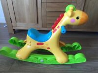 Fisher Price Rocking Tunes Giraffe excellent condition. Light up horse music baby toy toddler