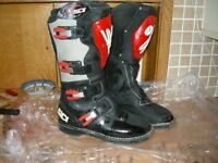 SIDI CROSSFIRE MX MOTOCROSS MOTORCYCLE BIKE BOOTS SIZE 43 9.5 FITS 9 TOO VGC