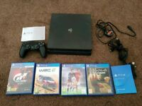 Playstation 4 PS4 500gb with 4 Games