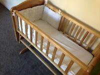 Swinging crub and crib set