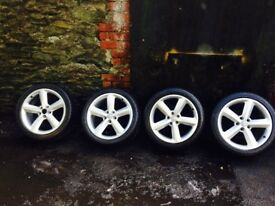 18 inch Audi s line alloys 5x112 will fit Passat Leon golf A4 A6 a3 Jetta caddy