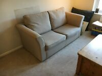 John Lewis Two Seater Sofa-Bed, Beige