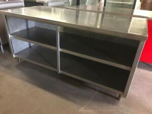 Two 6ft stainless steel tables ( heavy duty ! ) only $595 each one can be a fridge