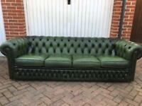 Green Chesterfield 4 Seater Sofa