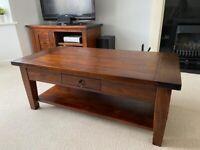 Coffee Table - Solid Dark Wood