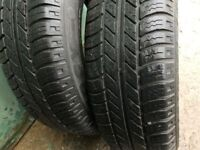 4x 165 70 13 Michelin Tyres used 7mm+
