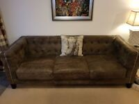 Leather Suite, 4 seater, 2 seater and foot stool