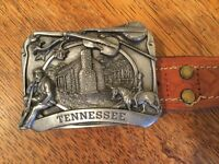 Tennessee buckle with brown leather belt