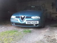 Alfa 156 JTD 2.4 5 Cylinder drives well fast smooth and economical