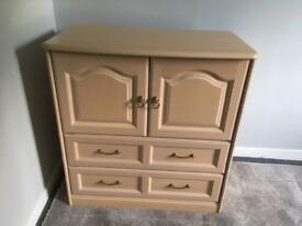 Schreiber Tallboy Cabinet plus 2 matching chests of drawers