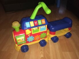 Light-up, musical train with fun sound effects.