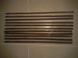 11 x 677mm Oak Victorian stair rods