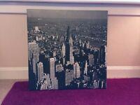 City Skyline Canvas Print B&W - BRAND NEW!