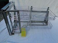 'Magic corner' sliding wire baskets for Left hand kitchen corner unit