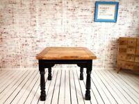 Dining Farmhouse Rustic Table Drop Leaf Painted Finish Extending - Folding, Ergonomic, Space Saving