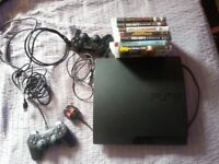 sony playstation 3 320 GB plus extra 8 GAMES plus extra 2 CONTROLLERS