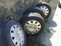 VW T5 /T4 New Tyres/Wheels Vw logo