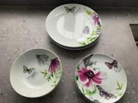 Next porcelain Exotic Bloom dinner service
