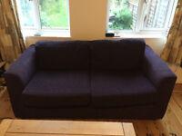 2-seater purple sofa