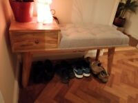 Wood Hallway Storage Bench for Sale £100 (collection or free delivery if local)