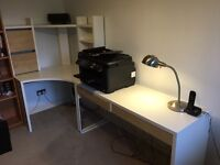 Ikea office furniture - desk and printer table
