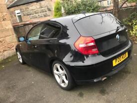 BMW 1 SERIES 116i SE hatchback 2007 Black (LOW MILEAGE)
