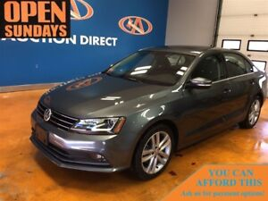 2017 Volkswagen Jetta 1.8 TSI Highline NAVI! SUNROOF! LEATHER!