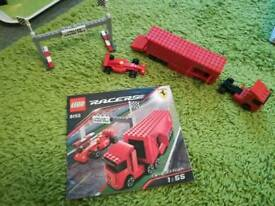Lego 8153 ferrari f1 car and racing truck OPEN TO OFFERS.