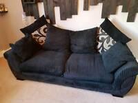 3 + 2 seater sofa plus puffet