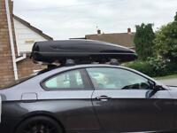 Gloss black dual sided roof box