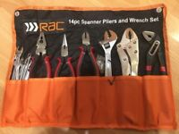 14 pieces Spanner, Pliers and Wrench Set