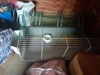 small cage for a chicken, rabbit, etc....