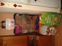 Rat Cage (immaculate) with accessories, food, litter, litter tray & bedding (+brand new carry case)