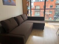 CORNER SOFA-BED WITH STORAGE (Ikea Friheten) - LIKE NEW