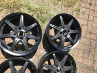 "17""alloys wheel with tyres"