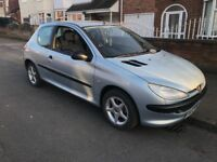 Peugeot 206 1.1cc 6 months mot recent clutch with service history electric windows CD player aux