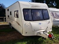2007 Bailey Senator Carolina 6 Berth Twin Axle End Washroom Caravan, Full Awning