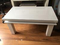 LED White Gloss Coffee Table Unused Paid £100