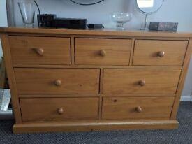 Oak style large set of drawers.