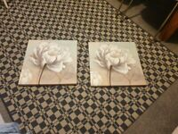 Small canvas. Flower painting never used good condition