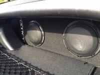 JL Audio Dual 8W3v3 active sub (ACP208LG-W3v3) - Collect from Bradford or Reading