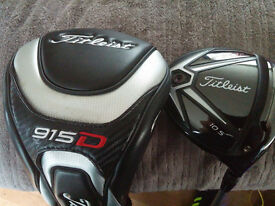Titliest 915 D2 10.5 Degree Driver with choice of shafts