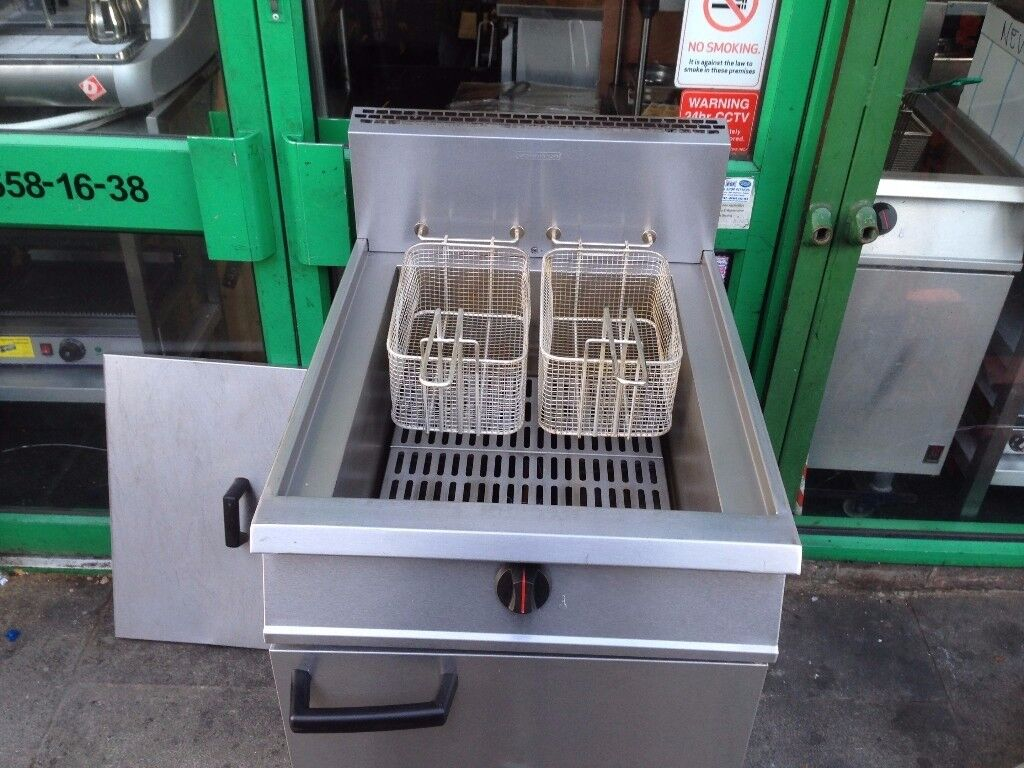 GAS FRYER CATERING COMMERCIAL KITCHEN FAST FOOD RESTAURANT TAKE AWAY SHOP BBQ FAST FOOD FISH CHIPS