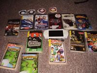 SONY PSP WHITE WITH LOADS OF GOOD GAMES AND FILMS