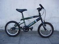Kids Bike by Aleola, Green, 14 inch Wheels are Great for Kids 4 Years, JUST SERVICED/ CHEAP PRICE!!