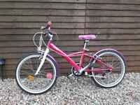 b'twin mistigirl 20'' hybrid bike