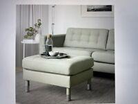 LANDSKRONA sofa, light green + matching ottoman