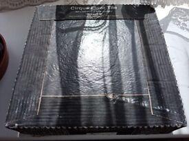Cirque floor tiles matt Black Stone effect